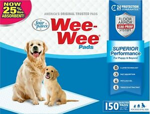 Four Paws Wee Wee Pads for Dogs, 22x23 Inch, 150 Count