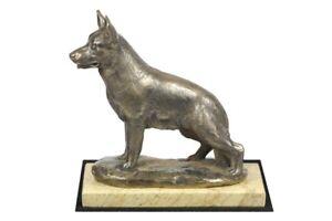 Owczarek Niemiecki - figurka na piaskowym marmurze z wizerunkiem psa Art Dog