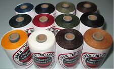 Waxed Linen thread  18 / 4 .      100 metre spools  12 assorted colours
