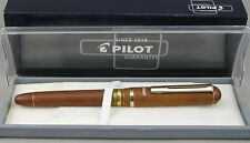 Pilot Woody Faux Wood & Gold Fountain Pen In Box - Fine Nib - Mint New-Old-Stock