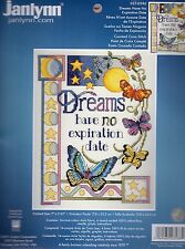 """Janlynn - Dreams Have No Expiration Date - Counted Cross Stitch Kit - 7"""" x 9.25"""""""