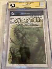 Swamp Thing 14  CGC 9.2 SS Blank Variant Parrillo Oil Painting Sketch