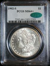 1902-S Morgan Silver Dollar PCGS MS64+ CAC