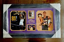 2014-15 PANINI THREADS Signage Kobe Bryant Auto Signatures #07/49 Framed Photo