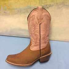 Pecos bill square toe Torque Brown ladies boots size 7-PreOwned