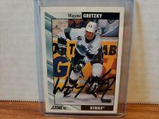 1992-93 Score Hockey U.S. Signed Wayne Gretzky #1 Kings COA