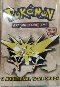 Original Pokemon cards 1999 Fossil Set WOTC Vintage Old Pokemon Card Pack