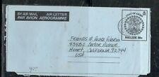 BELIZE  COVER (PP0509B) 1990 50C ARMS AEROGRAM TAPIR ON BACK DANGRIGA BRIDGE-USA