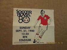 NASL Washington Diplomats Vintage SOCCER BOWL1980 Logo Soccer Ticket Brochure