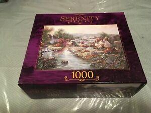 2002 EAGLE RIDGE FALLS/ Serenity Series a Rose Art 1000 piece puzzle **NEW**