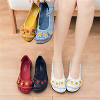 Womens Flower Casual Boat Shoes Ladies Hollow-Out Loafers Mocassin Leather Flats