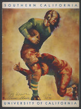1931 USC CAL FOOTBALL PROGRAM AUTOGRAPHED GUS SHAVER TAY BROWN TWICE SIGNED JSA