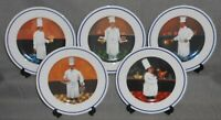 Set (5) Williams Sonoma GUY BUFFET CHEF SERIES PATTERN Salad Plates JAPAN