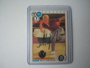 Mats Karlsson PBA Bowler Bowling Signed Autographed 1990 Kingpin Card