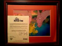 SPIKE w/DUCKY & PARENTS, LAND BEFORE TIME BLUTH STUDIOS KEY PRODUCTION CEL SETUP