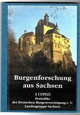 Burgenforschung aus Sachsen 1, 1992, Deutsche Burgenvereinigung e.V., Sachsen