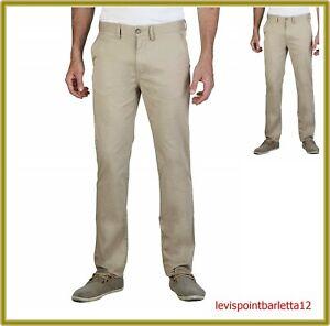 GEOX pantaloni da uomo in di cotone estivi regular chinos elasticizzati 48 50 58
