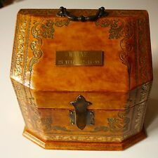 Fine Italian Leaather Biscotto Desk Box Personalized Engravable Gift Italy