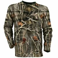 Wetlands Camo Moisture Wicking Base Layer Wildfowling Long Sleeve T-Shirt