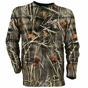 Wetlands Camo Honeycomb Breathable Wildfowlers Shooting Long Sleeved T-Shirt