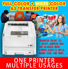 OKI WHITE TONER T SHIRT HEAT TRANSFER PRINTER & RIP SOFTWARE C830WT AS PRO8432WT