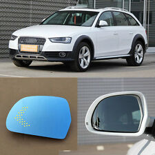 Rearview Mirror Blue Glasses LED Turn Signal Power Heating For Audi A4/A5
