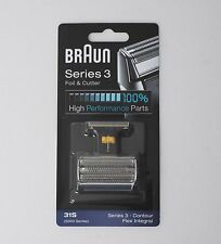 BRAUN Mens Shaver Foil & Cutter 31S 5000 6000 Series 3 Contour Made in Germany