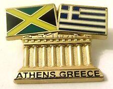 Pin Spilla Olimpiadi Athens 2004 Greece/Jamaica Flags