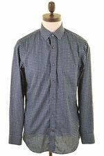 BANANA REPUBLIC Mens Shirt Medium Blue Cotton Slim Fit  AB11