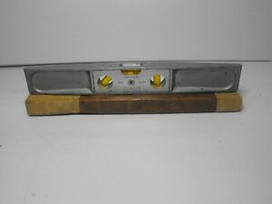 "Vintage Stanley No. 264  9"" Aluminum Torpedo Level 3 Working Bubbles USA"
