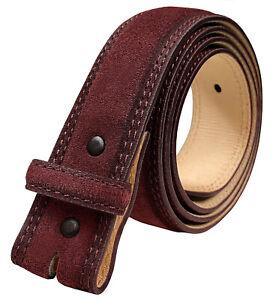 "Casual Dress Belt Strap Genuine Suede Leather Belt Strap 1-3/8"" (35mm) Wide"