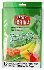 Brawny Produce Protector Reusable Bags Set of 10 Bags Total NEW