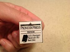 Pin Saint Paul Pioneer Press Patron US Olympic Festival 90' Twin Cities