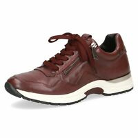 Caprice Ladies Sneakers Soft Bordo Leather Uppers Trainers with Zip Sale