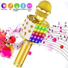 New ListingBluetooth Karaoke Microphone with Led Lights, Xianrui Portable Karaoke with Spea