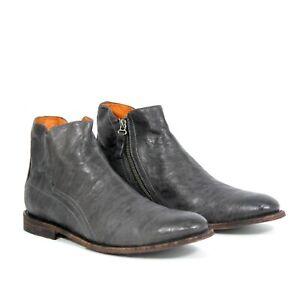 Ariat Lockwood Mens Casual Boots Grey Premium Leather Zip Closure New Authentic