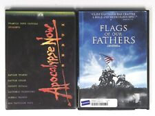 Lot of 2 War Movie DVDs Apocalypse Now Redux Flags Of Our Fathers Coppola Brando