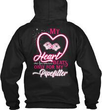 Heart Beats For My Pipefitter Gildan Hoodie Sweatshirt