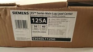Siemens S3040L1125G 125A ES Series Main Lug Load Center