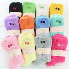 6 Pairs Women Ladies Lounge Slipper Bed Socks Fleece Fluffy Warm Soft Grip Bed