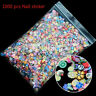1000pcs 3D Fruit Animals Fimo Slice Clay DIY Nail Art Tips Sticker Decoration Fg