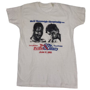 Vintage 1982 Larry Holmes vs. Gerry Cooney Fight: Small T-Shirt Ultra Thin White