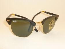 New RAY BAN Sunglasses  Folding Clubmaster Black Frame  RB 2176 901  G-15 Lenses