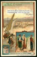 Crete Mediterranean Greece Canee Sailboat c1907 Trade Ad Card