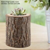 Wood Timber Pile Candle Stand Table Candlestick Log Flowerpot Ornament Decor