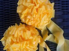 "TIE A YELLOW RIBBON BOWS ~2 LARGE 6""+ BOWS ~ Support OUR Troops ~ outdoor"