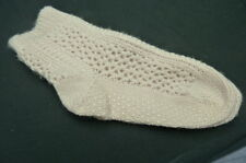 WOMENS SLIPPER SOCKS…BEIGE..HAND KNITTED  NON-SKID