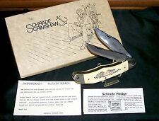 "Schrade SC260 Knife Scrimshaw #07233 ""Giorgianni Art"" C-1975 W/Packaging,Papers"