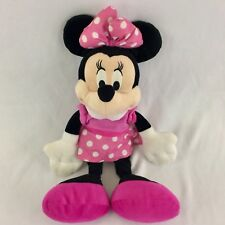 "Minnie Mouse Plush Disney Pink Polka Dot Dress Pink Shoes 16"" Toy Doll 2013 Kids"