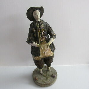 """7 3/4""""  shell doll c. 1830 with provenance : French Museum"""